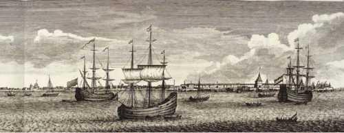 1711 г. Архангельск. Гравюра из книги К. де Бруина